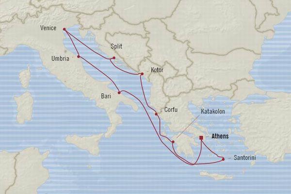 オーシャニア 地中海クルーズ