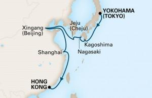 ホーランド アメリカ 横浜発香港着 中国&日本