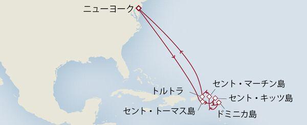 QM2 カリブ海クルーズ