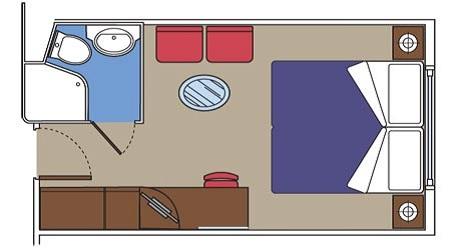 MSC 海側客室 レイアウト